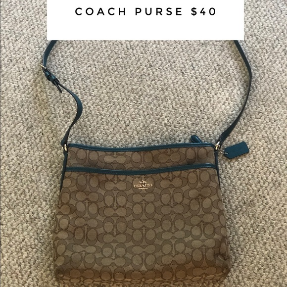 Coach Handbags - Teal Coach Purse